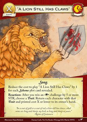 """A Lion Still Has Claws"""