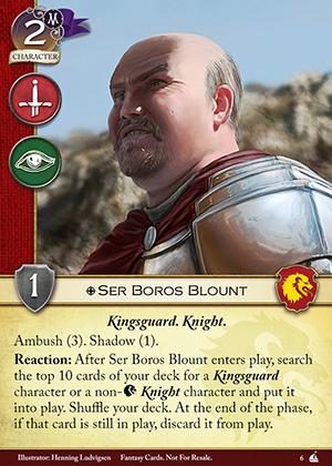 Ser Boros Blount
